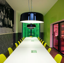 Pendant lamp / contemporary / dimmable / white
