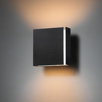 Contemporary wall light / metal / LED / rectangular