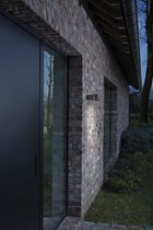 Contemporary wall light / garden / metal / LED