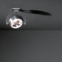 Ceiling-mounted spotlight / indoor / halogen / round