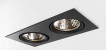Recessed ceiling spotlight / indoor / LED / square