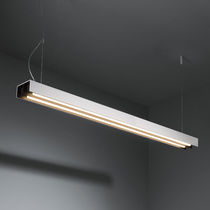 Hanging light fixture / surface-mounted / fluorescent / linear
