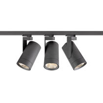 LED track lights / round / metal / commercial
