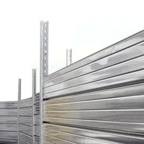 Construction site fence / with panels / galvanized steel / modular
