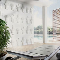 3D ceramic wall tile: floral pattern BLANCO BRILLO Vives Azulejos y Gres