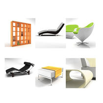 3D object library: furniture MODERN FURNITURE DOSCH DESIGN