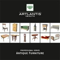 3D object library: furniture (for Artlantis) ANTIQUE FURNITURE Artlantis