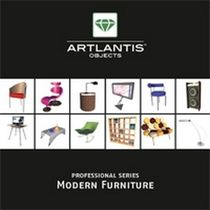 3D object library: furniture (for Artlantis) MODERN FURNITURE Artlantis