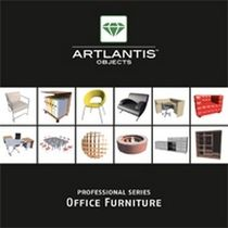 3D object library: furniture (for Artlantis) OFFICE FURNITURE Artlantis