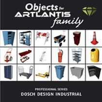 3D object library: furniture (for Artlantis) INDUSTRIAL Artlantis