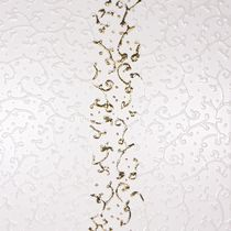 3D porcelain stoneware wall tile: floral pattern CESELLO: BIANCO ORO 30 X30 CM Lifetile