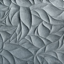 3D stone wall tile: floral pattern HAND CARVED : LIMESTONE LEAVES ARTISTIC TILE