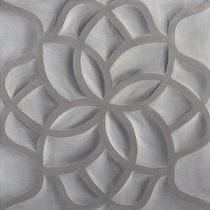 3D stone wall tile: floral pattern HAND CARVED : SANDSTONE LOTUS ARTISTIC TILE