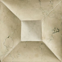 3D stone wall tile: geometric pattern HAND CARVED :  PORTRAIT BIANCO ANTICO ARTISTIC TILE