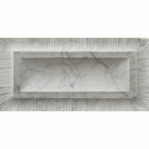 3D stone wall tile: plain color HAND CARVED : PORTRAIT BIANCO CARRARA ARTISTIC TILE