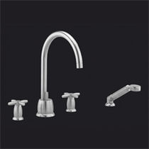 4 hole bath-tub double handle mixer tap QUARTZ  MARGOT