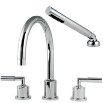 4 hole bath-tub double handle mixer tap GEMMA 6318 Aquatrim