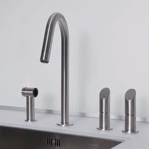 4 hole kitchen double handle mixer tap with shower head T45 SP MGS Progetti