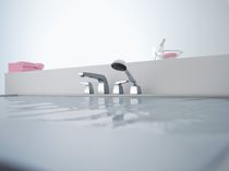 4 hole shower and bath-tub double handle mixer tap SQUARE VOGUE Villeroy & Boch