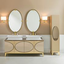 Double washbasin cabinet / free-standing / wooden / classic