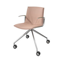 Contemporary office chair / with armrests / on casters / fabric