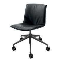 Contemporary office chair / on casters / star base / fabric