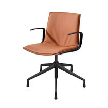 Contemporary office chair / with armrests / on casters / star base