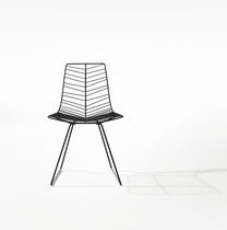 Contemporary chair / GreenGuard® certification / sled base / steel