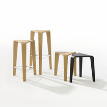 Contemporary bar stool / oak / plywood / bentwood