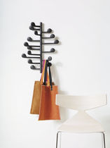 Wall-mounted coat rack / contemporary / steel / aluminum