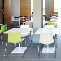 Contemporary bistro table / MDF / lacquered MDF / laminate