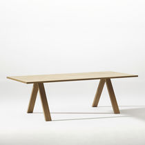 Contemporary conference table / wooden / steel / aluminum