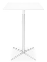 Contemporary high bar table / MDF / aluminum / round