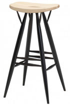 Contemporary bar stool / birch / black / brown