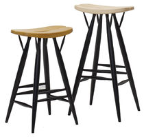 Bar stool / contemporary / birch / black