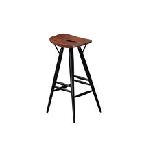 Scandinavian design bar stool / birch / pine / with footrest