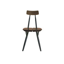 Scandinavian design chair / lacquered wood / birch / black