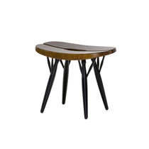 Scandinavian design stool / pine / black / brown