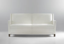 Contemporary sofa / fabric / 2-seater / white