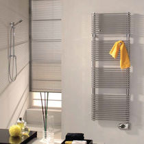 Electric towel radiator / stainless steel / contemporary / bathroom