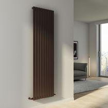 Hot water radiator / steel / mirror / contemporary