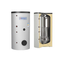 Electric hot water tank / solar / free-standing / vertical