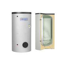 Electric water heater / solar / free-standing / vertical