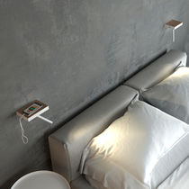 Contemporary wall light / metal / wooden / LED