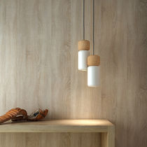 Pendant lamp / contemporary / aluminum / cork