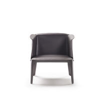 Contemporary armchair / leather / by Carlo Colombo / commercial