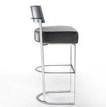 Contemporary bar chair / with removable cover / upholstered / metal