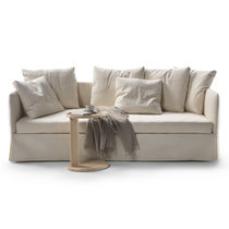 Sofa bed / contemporary / leather / fabric