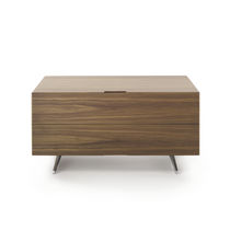 Contemporary chest of drawers / wooden / aluminum