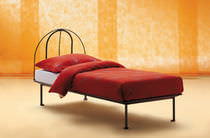 Single bed / traditional / aluminum / by Enzo Mari